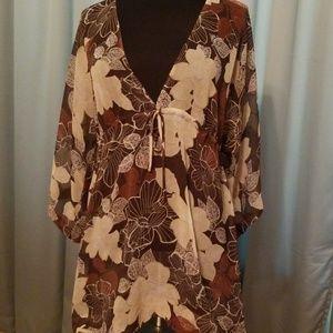 Sheer tunic/bathing suit coverup/dress
